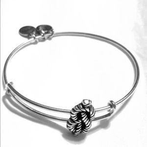 Alex and Ani Sailor's Knot Silver Bangle